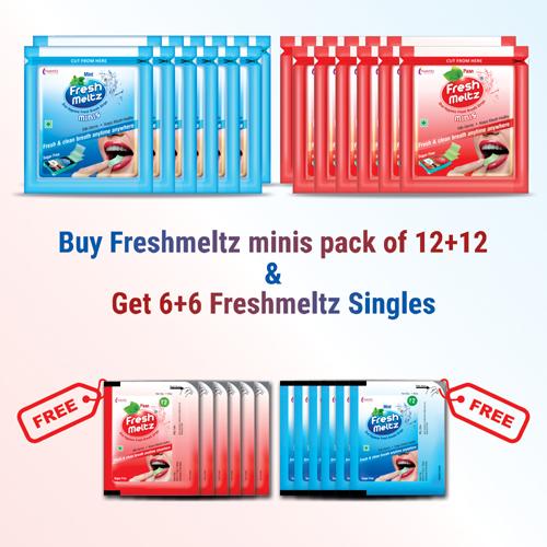 Amazon_Banner FRESHMELTZ minis offer pack COMBO – 12+12 new